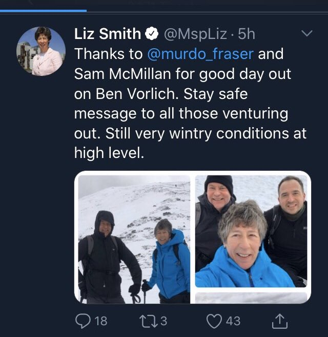 Is that not what Princes Charles is going too in Balmoral does that not count ... or your comrades that climbed a mountain and hastily deleted tweet <br>http://pic.twitter.com/gZLAZP1UGK