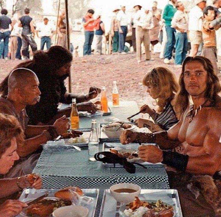 When your #dnd group takes a break for lunch (set of Conan the Destroyer, 1984)