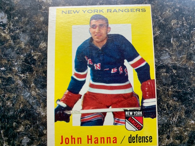 """Remembering the late John """"Junior"""" Hanna on his birthday. #Sydney native was #NHL's first player of Lebanese descent. His career spanned 20 seasons and eventually became coach in #WHA.pic.twitter.com/dklWkeWWx6"""