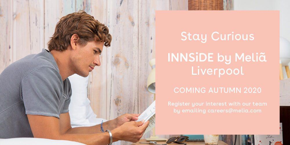 @innsidebymelia Liverpool opening coming in Autum 2020 👉https://t.co/r20bzGjamO. Register your interest with our team by emailing careers@melia.com. https://t.co/ZXR6hIc47m