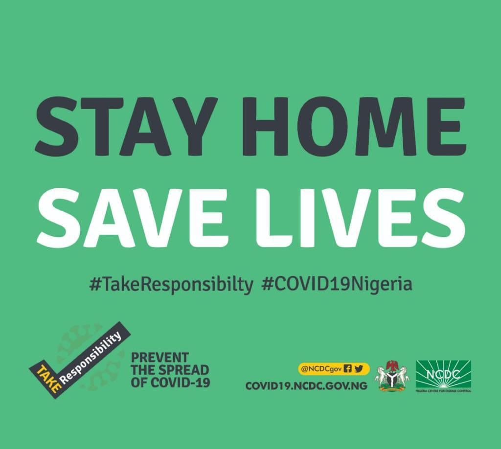 #COVID19Nigeria  STAY AT HOME  #COVID19 is transmitted easily from person to person, especially when people gather or visit public places  #StayAtHome to keep yourself and loved ones safe   #TakeResponsibility https://t.co/GzTe9sPiK2