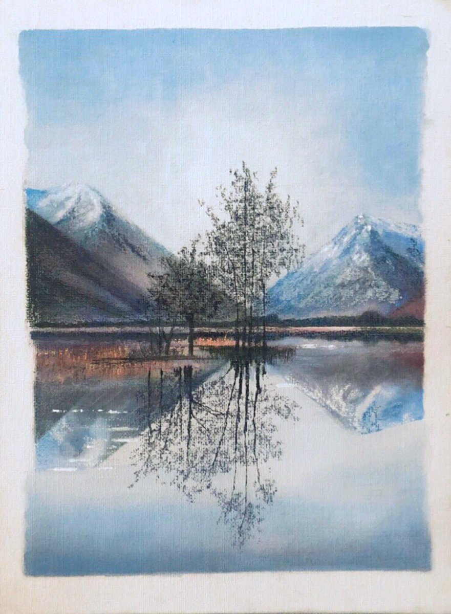 Reflections on a canvas board  #myart #painting #canvas #nature #art #reflections #toilepic.twitter.com/dgYEgC34UN
