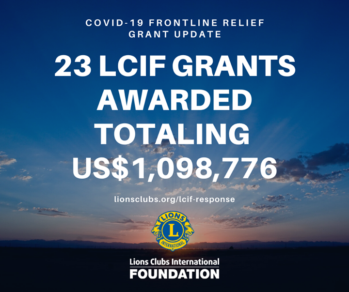 test Twitter Media - Thanks to your donations, LCIF has been able to award 23 grants totaling US$1,098,776. Donations for our COVID-19 response are being accepted through LCIF's General Disaster Fund. https://t.co/JNIimmOgdq https://t.co/Gy5NZcxdQt