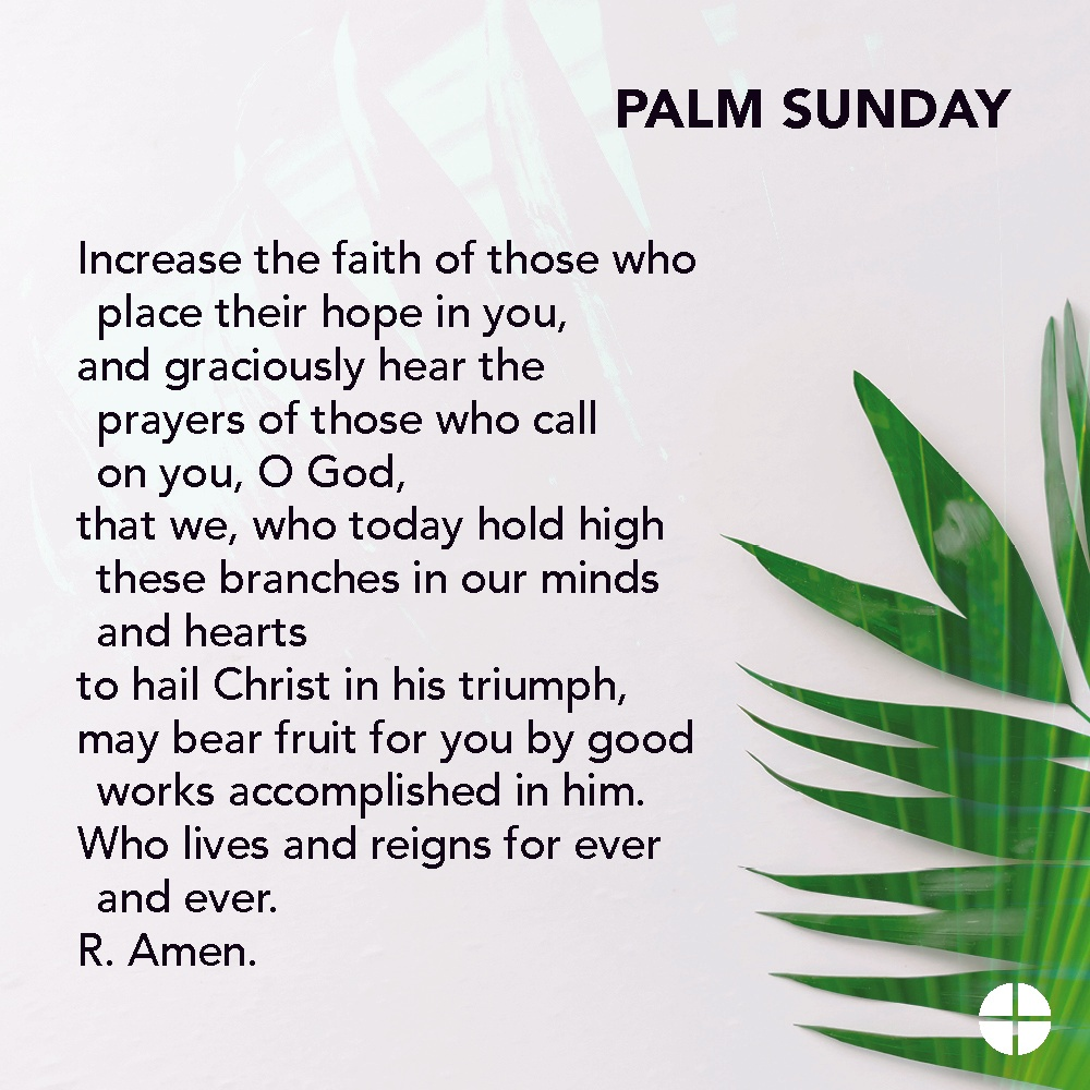 Here is a Palm Sunday prayer that can be prayed today. I long for the day we can gather together once again to give thanks and praise to God. Oh happy day!!! https://t.co/evPg9bGDou