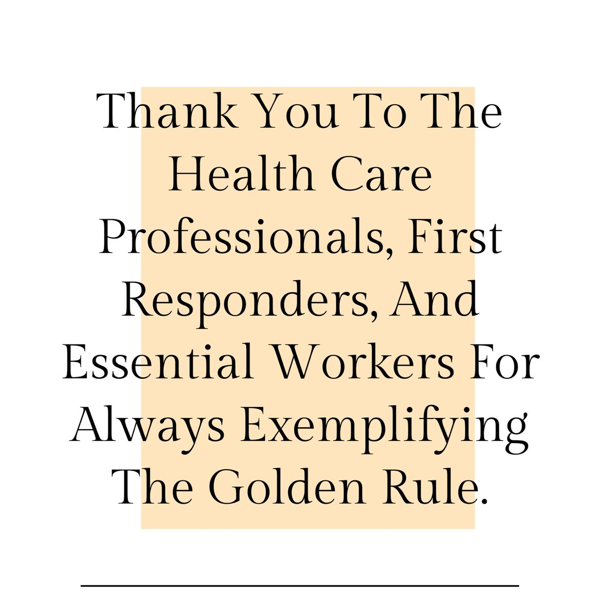 A huge THANK YOU to all of the health care professionals, first responders, and essential workers! We appreciate you!!   #attitudeofgratitude #gratefulthankfulblessed #gratefulmindset #healthcareworkers #essentialworkers #firstresponders #covidpic.twitter.com/A4v32qFMWD