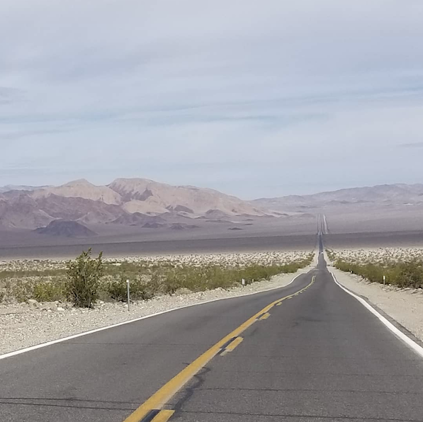 """""""On the road again ... I just can't wait to get on the road again.""""  Thanks to Instagrammer Nick Solovieff for this inspiring shot, taken on U.S. 95 between Amargosa Valley and @TonopahNevada. (: @nicksolovieff / Instagram)pic.twitter.com/3f5kIXvjFT"""
