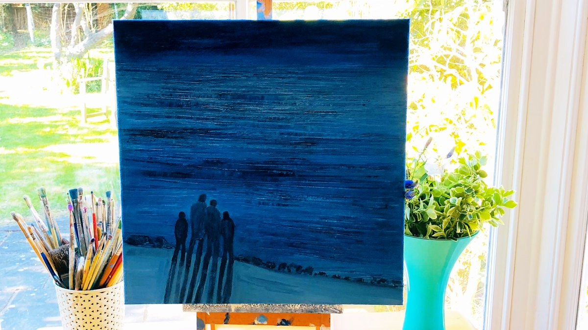 Hope you can relax a bit this Sunday. On my easel is one of my new #paintings I have been working on recently called 'Searching for a New Horizon'. Title seems to fit the times somehow. Hope you are all ok. Keep well, stay safe, protect the #NHS & look after one another too xpic.twitter.com/xiwwbg4gQn