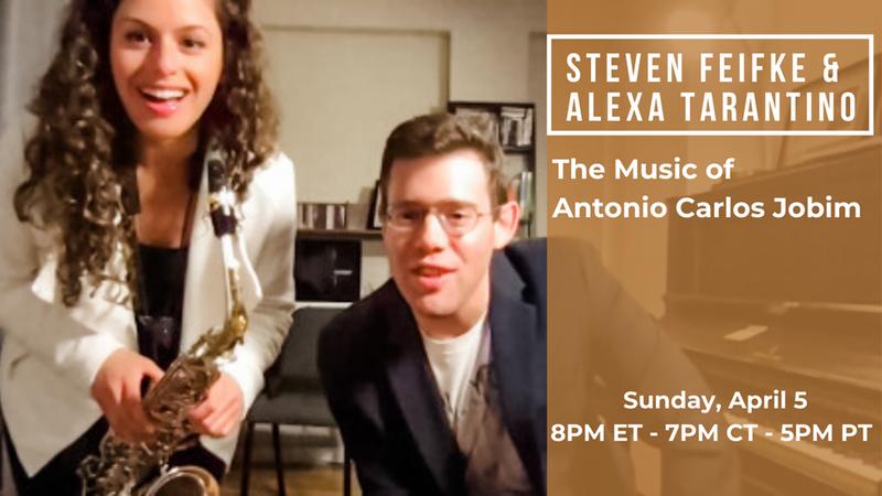 TONIGHT 8pm ET - Alexa Tarantino & Seven Feifke @alexatarantino @StevenFeifke   #listentomorejazz #stayhome #quarentineandchill #SafeHands #flattenthecurve #stayhomebands #stayandplay #pandemicperformance #livingroomconcerts #concertsfromhome #musicinisolation #togetherathome