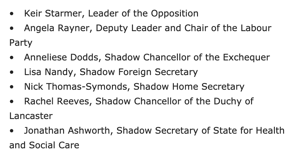 The appointment of @AnnelieseDodds as Shadow Chancellor is critical: it suggests Keir Starmers policy promises in the leadership election will be upheld. @NickTorfaen - a biographer of Attlee and Bevan - also comes from the genuine not-just-throwing-the-term-about soft left.