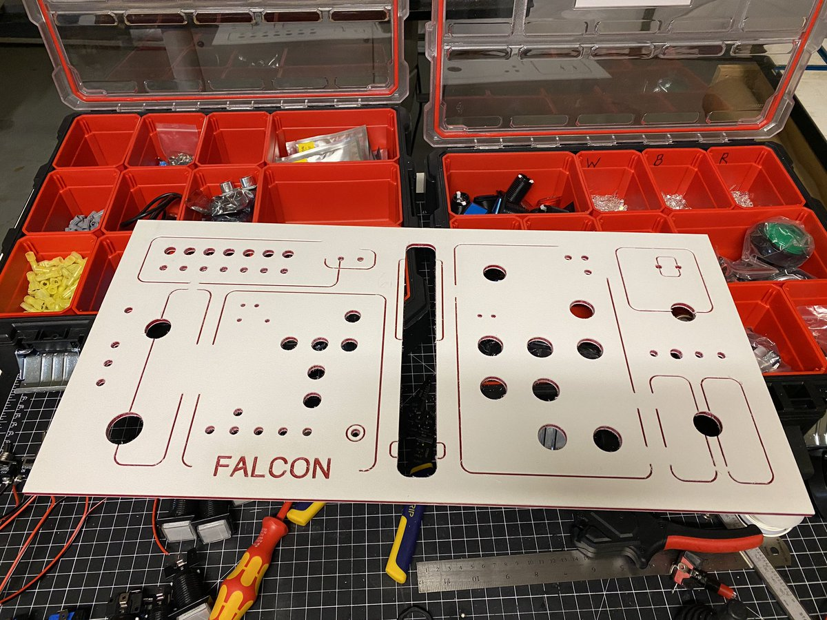 Ever since our #Disneyland  trip, my boy has begged me to make him a 'Punch it' Millennium Falcon console.  Part 1 of that journey from my #makerspace <br>http://pic.twitter.com/ZIhjMyXbwa