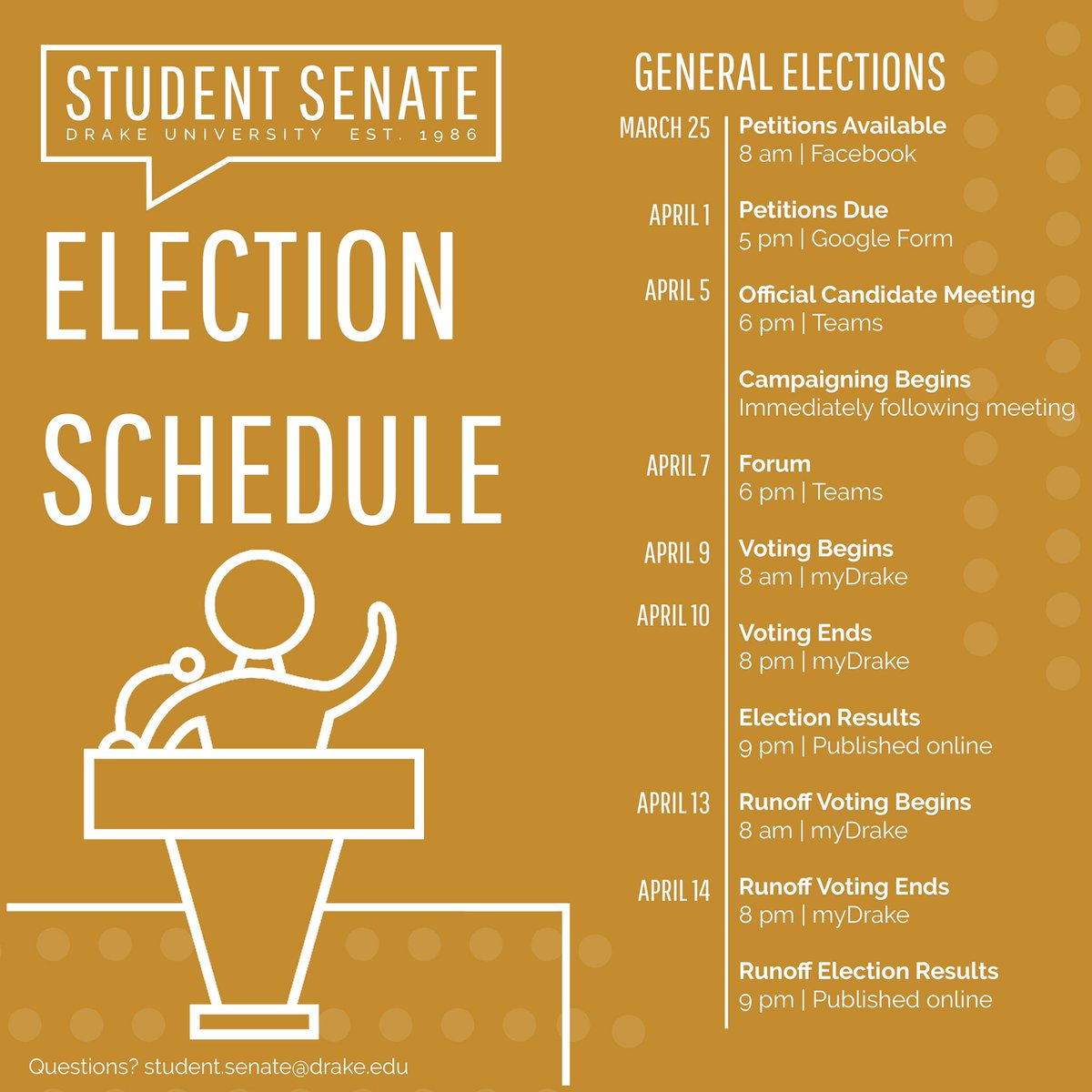 Back-to-back elections? You bet. Mark your calendars for this week's general election events.