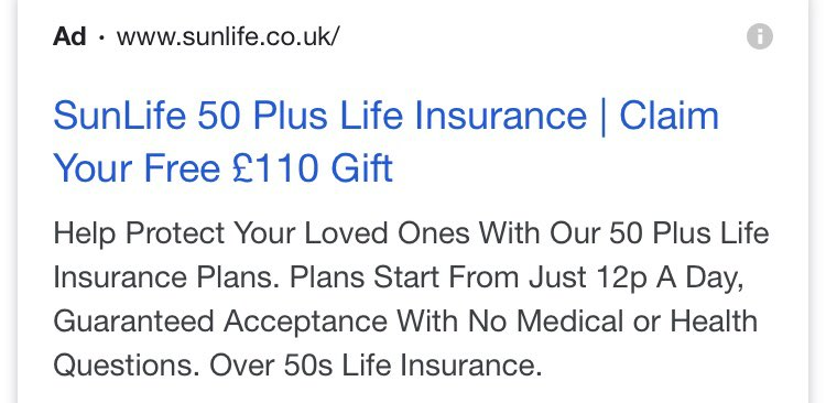 #LifeInsurance #SunLife #coronavirus #CoronavirusPandemic  Anyone else noticed how the over 50s life insurance adds have disappeared from your tv screen. Just 12p a day, guaranteed acceptance, no medical reqd. I really wanted a free Parker pen too.pic.twitter.com/CAxtYP3Ome