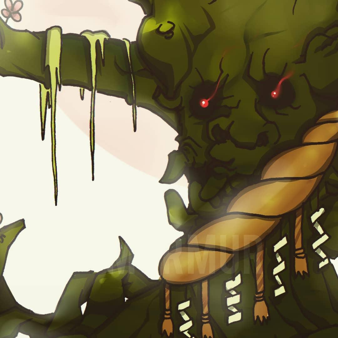 12: Damn, It's too late!! Hi, this is Jubokko or Tree Child. #mumur1 #artwork #manga #anime #penandink #digitalpainting #digitalcoloring #ilustrasi #illustration #characterdesign #indonesia #PaintoolSai #pendrawing #japanesefolklore #quarantineday #yokai #jubokkopic.twitter.com/rz2YCUoG9o
