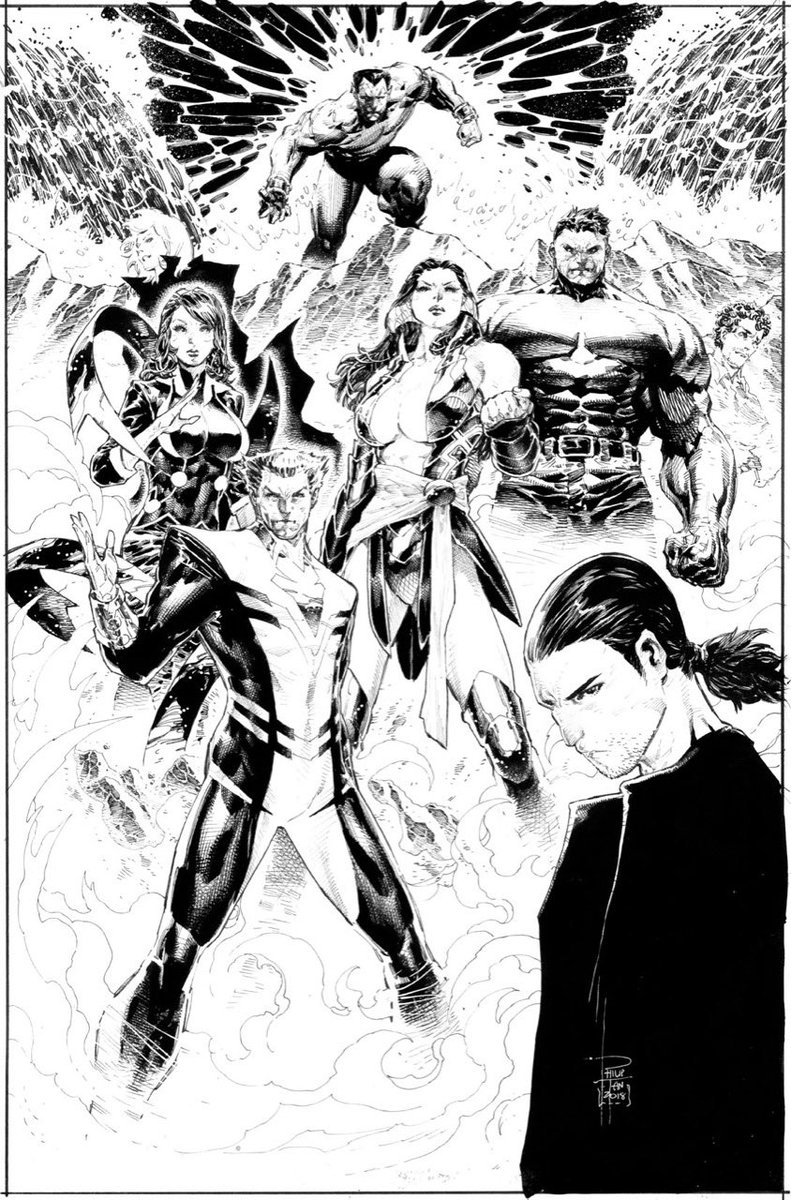 Time to post old #fanart when your under the weather...   This would be my take on #Marvel's #Eternals if I would do the book... mix of new ones and classic favs...  #pen #ink #comics #アメコミ #漫画 #PhilipTan #陳堉林pic.twitter.com/9eAajCAmWI