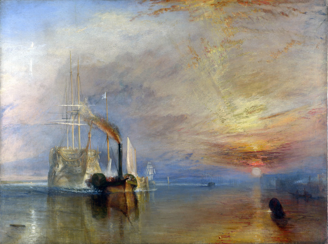 The Fighting Temeraire tugged to her last berth to be broken up, 1839 #englishart #jmwturnerpic.twitter.com/kIFjL1rsyS