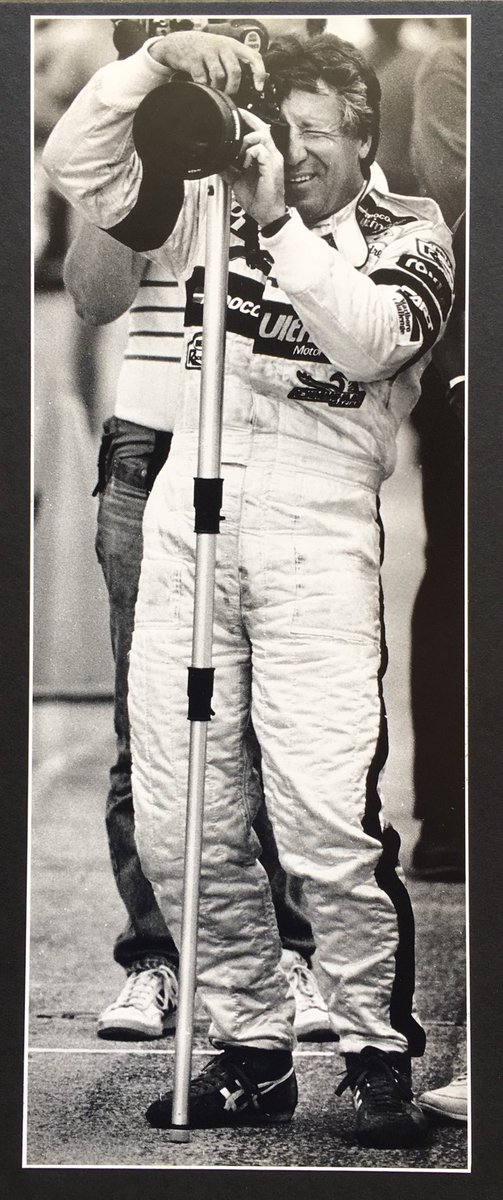 @MarioAndretti I was going through some photos from back in the day and found this one of you I took during Indy 500 practice. Showing your multi-talent.