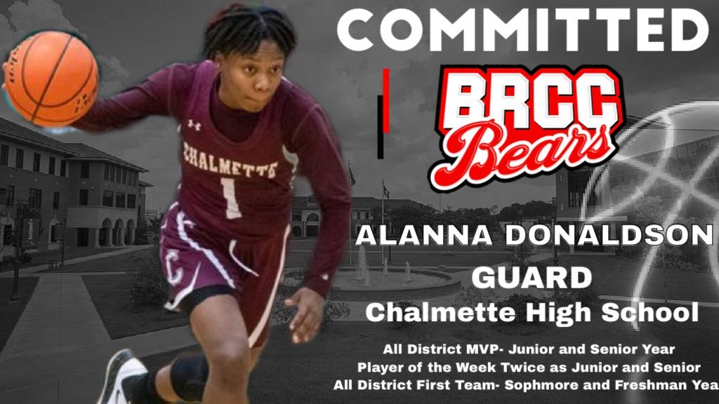 Commitment Alert BRCC picks up two more great basketball players over the weekend!  Help us congratulate both these young ladies!  Alanna Donaldson Chalmette   Ja'Kai Randall @Imjaee__  Higgins    Two more #LouisianaRanked players off the board!pic.twitter.com/BdSrF9tyNa