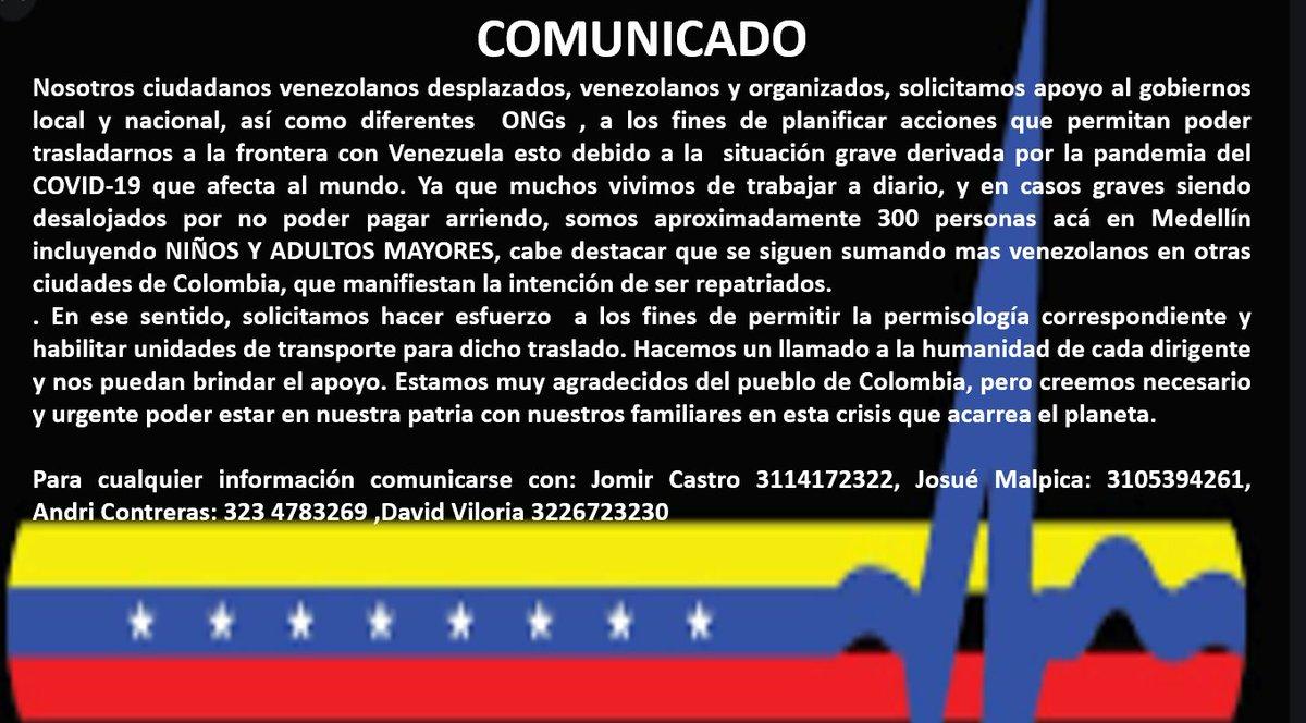 @jguaido @IvanDuque @miguelhotero @AsambleaVE @MigracionCol @NoticiasRCN @NoticiasCaracol @NTN24 @QuinteroCalle @caroalca @CNNEEpic.twitter.com/teZqKaFJK9