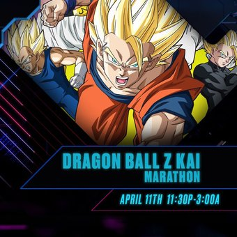 The cell saga is back on National television like in the classic modern days.   Watch the #DragonBallZkai marathon next saturday from 11:30pm to 3:00am Eastern / 10:30pm to 2:00am Central on #Toonami. (Check your local listings.)pic.twitter.com/hdrBd3wk68
