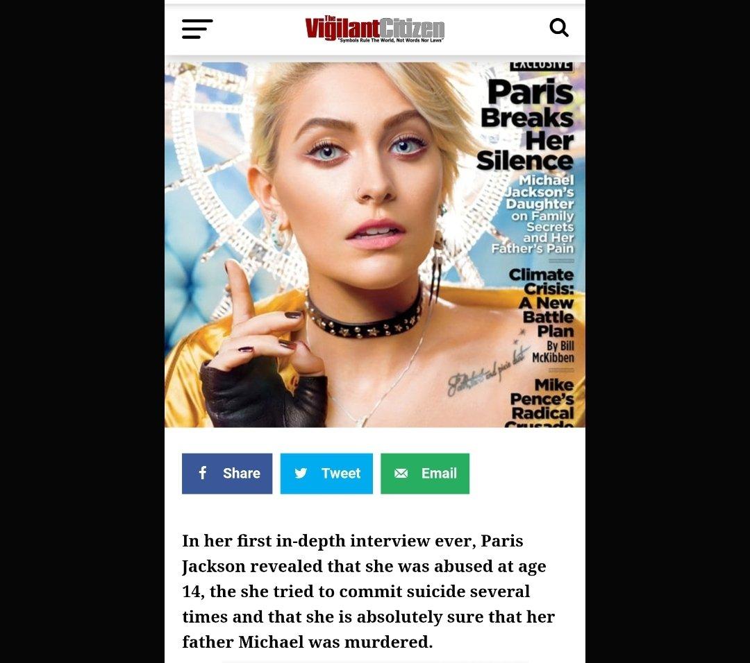#realvigilantcitizen #parisjackson. #thebeastsystem  #Hollywood #hollyweird #hollywoodspeaks #hollywoodisevil #hollyweirdisevil #wakeup #openyoureyes #illuminat https://www.instagram.com/p/B-nb5DPgMjZ/?igshid=k85yuz30audz…pic.twitter.com/AwUqwoqomM
