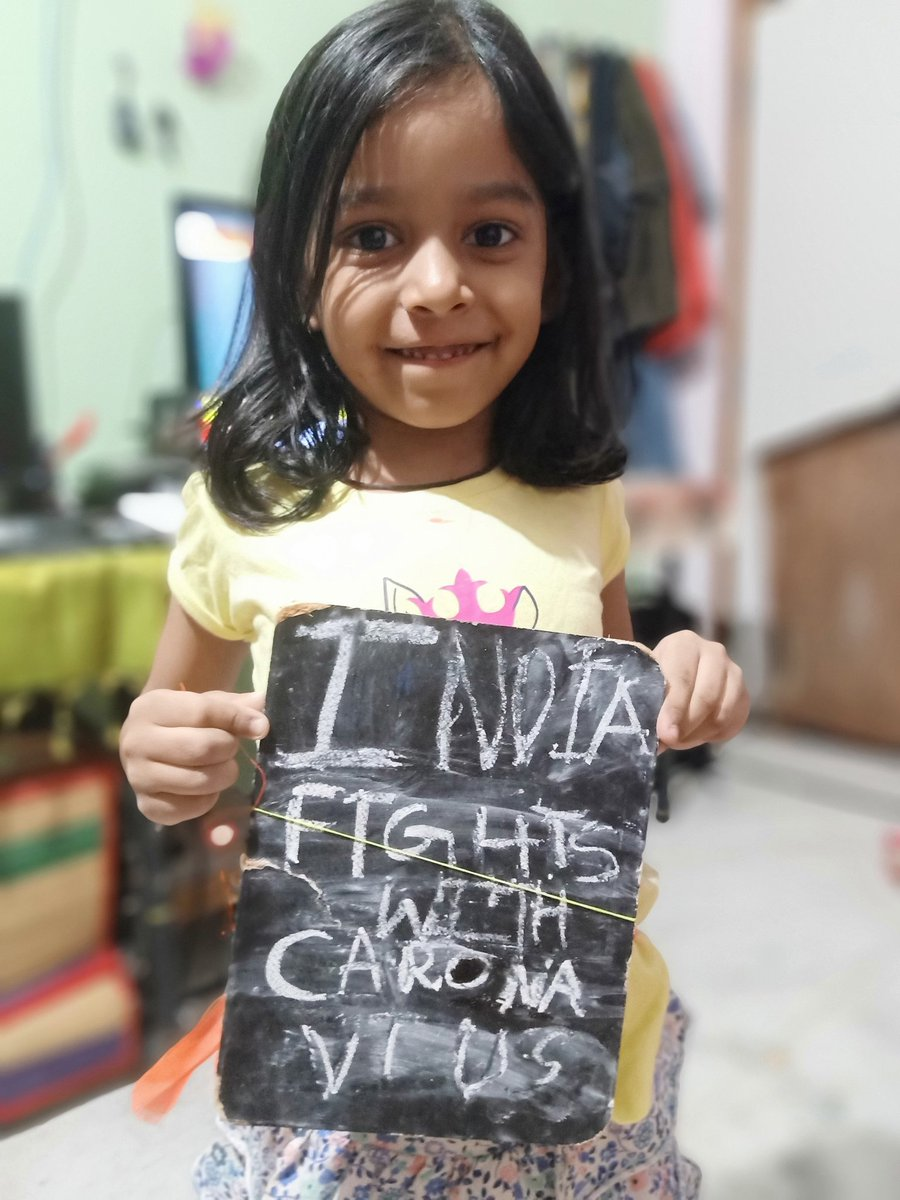 My daughter wrote and roming in home , while checked found this  #IndiaFightsCorona  #5April9Baje9Minute<br>http://pic.twitter.com/uexNd9mZoW