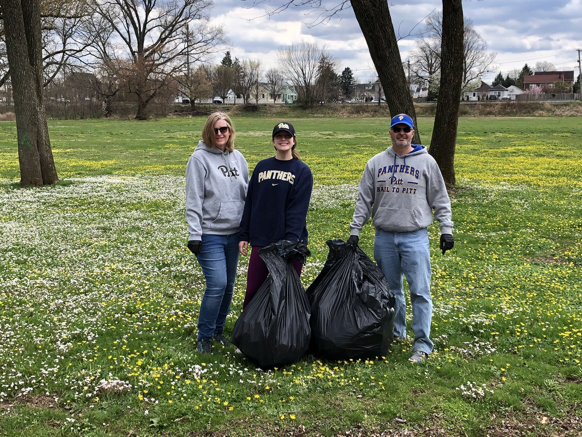 In Manville, NJ the Kolody family collected 2 big bags of trash on their family walk!