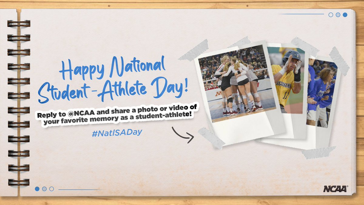 Happy #NatlSADay! What's your favorite memory as a student-athlete? 📸 🎥