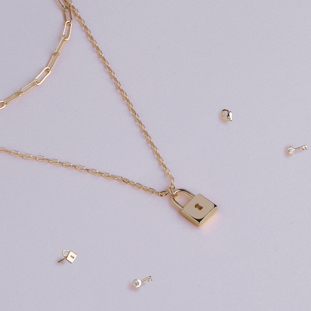 We may be locked inside but these locks will keep you company🔐 . . . #sterlingforever #newcollection #lock&key #pendant #necklace #studs #gold #love #fashion #trendy #styleguide #jewelrylove #trends #womensstyle #giftidea #shop #shoponline #staysafe #stayhome