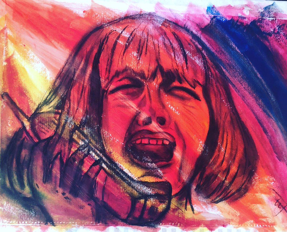 No, you listen, you little bitch! You hang up on me again, I'll gut you like a fish, understand?! #scream #horror #horrorart #acrylicandcharcoal #wescraven #artist #caseybeckerpic.twitter.com/iLQXjNFHLK