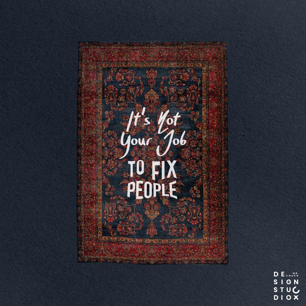 It's Not Your Job to Fix People  #art #typography #quoteofthedaypic.twitter.com/Ut15TgtboE