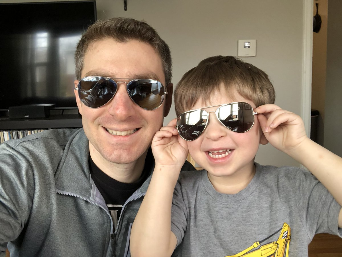 Getting my son matching aviators sounded like such a great idea until we went for a walk and I quickly realized I made a terrible decision. He looks like the freakin Unabomber! #parenting #dadlife #lifeofdad @LifeofDadShowpic.twitter.com/qKAy7KsqZ9