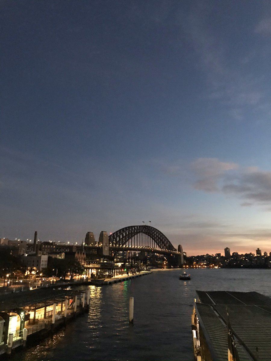 Early morning view of Sydney Harbour Bridge while going to work  #Sydney pic.twitter.com/AREhfZx0cF