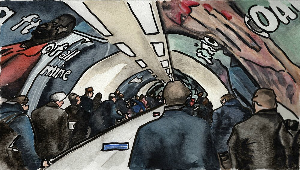 This is my #waterlooandcity series inspired by a rush hour commute. I'm totally unaccustomed to this size of crowds but who would have thought that these senses would start to disappear? #waterlooandcityline #waterlooandcitylinecommute #londoncommute #londoncommuters #londonlife pic.twitter.com/my23W2mACu
