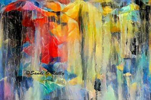 """New Artwork For Sale """"Raining In The City Abstract Mixed Media """"https://fineartamerica.com/featured/raining-in-the-city-abstract-mixed-media-sandi-oreilly.html…  An abstract of #people #walking in the #city while it is #raining with their #umbrellas #decor #decorating #prints #canvas #products #totebags #pillows #wallart #mugs more!pic.twitter.com/z9mixnizgU"""