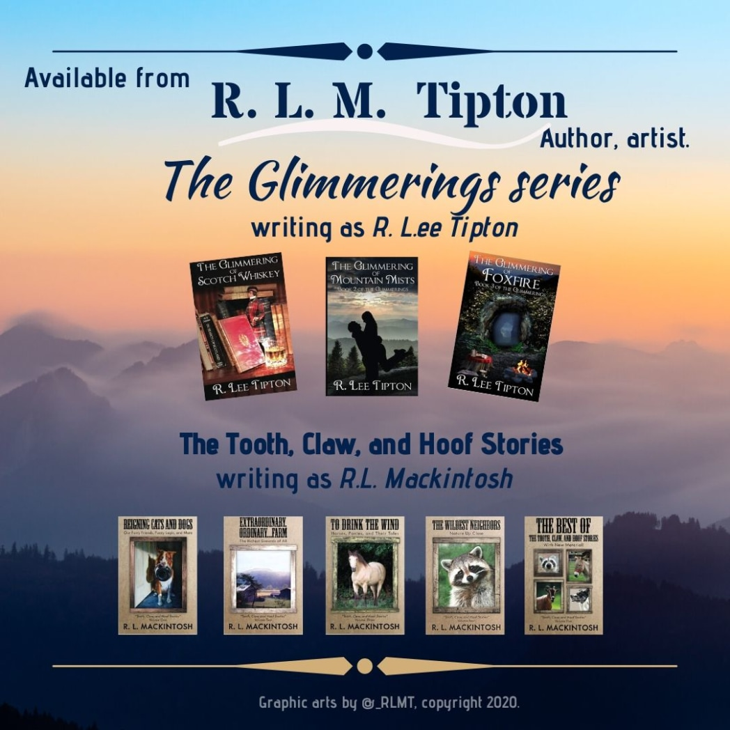"""R. L. M. Tipton writes a variety of styles and genres, using various pen names, among them """"R. L. Mackintosh"""" and """"R. Lee Tipton"""".   Available (print) volumes are for sale on Amazon.  http://tinyurl.com/r3dhw2g #books #literature #nonfiction #fiction #stories #blogpic.twitter.com/GwMrRskccQ"""