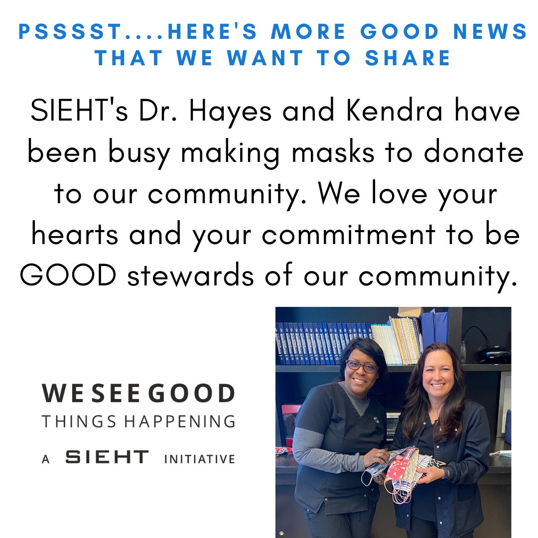 We are loving finding the good to see happening in our community and in the world right now. #giveback #SIEHT #loveoneanother #SIEHT #inthistogether #stayhome #flattenthecurvepic.twitter.com/ZOq8IJEirq