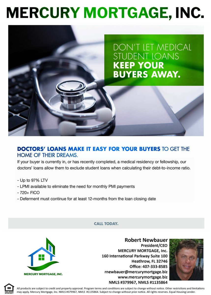 MEDICAL STUDENT LOANS  CALL, MESSAGE OR EMAIL ME WITH ANY LOAN SCENARIOS, CREDIT ISSUES, ETC.!!! #floridahomes #floridarealestate #floridarealtor #floridarealtors #floridahome #realestateagent #southfloridarealestate #southfloridarealtor #flrealestate #flrealtor #realtorlife pic.twitter.com/KNZAhibl4o
