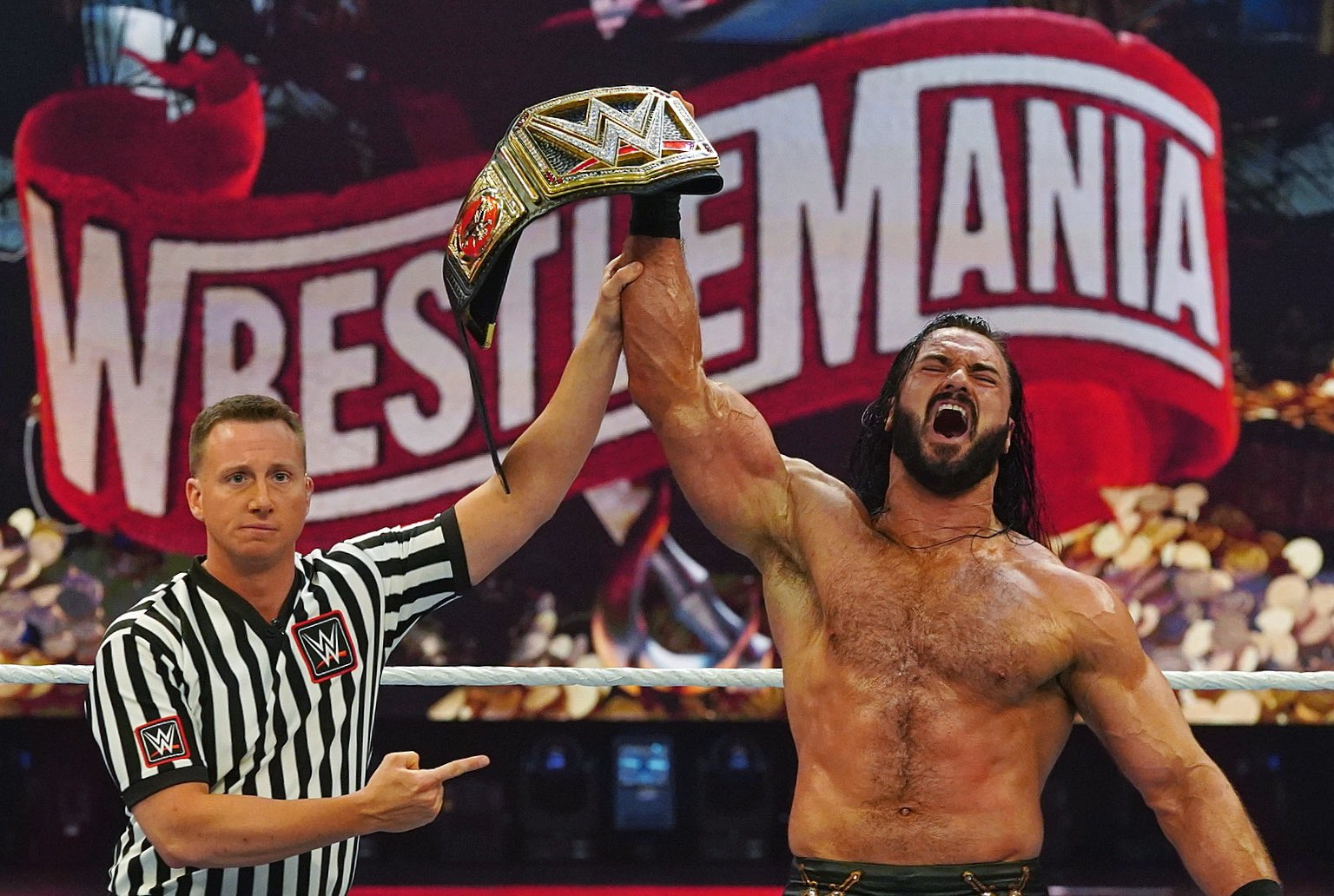 Drew McIntyre And Charlotte Flair Become New Champions At WWE Wrestlemania 1