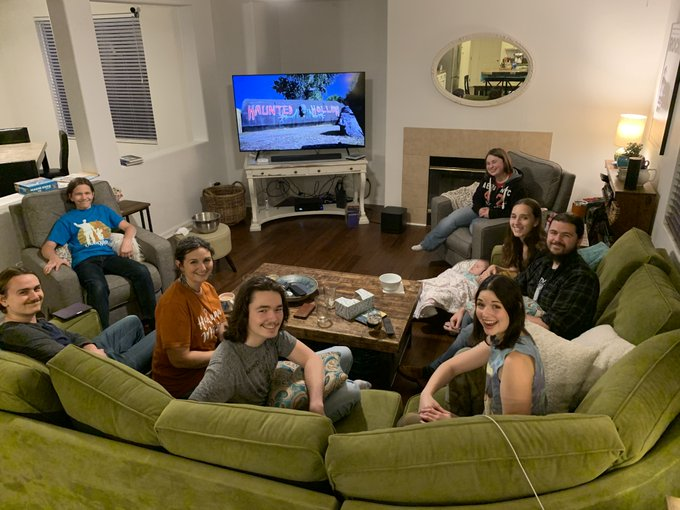 Happy birthday, We\re having a family watch party in your honor.