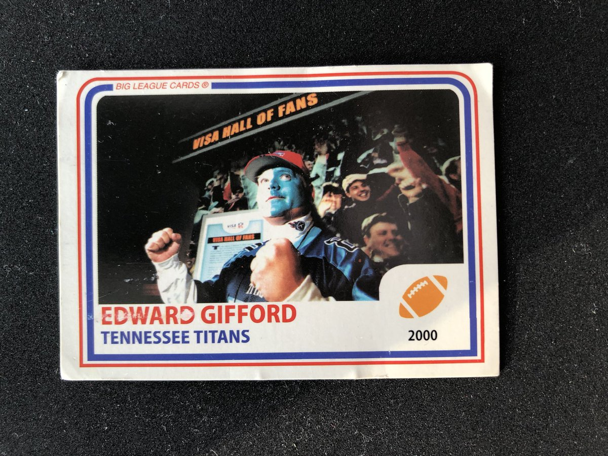 This dude, my cousin Eddie, is the reason I'm a @titans fan. He gave me this card in 2001, and I've kept it all these years. #Titans #TitanUppic.twitter.com/031ND3RA1U