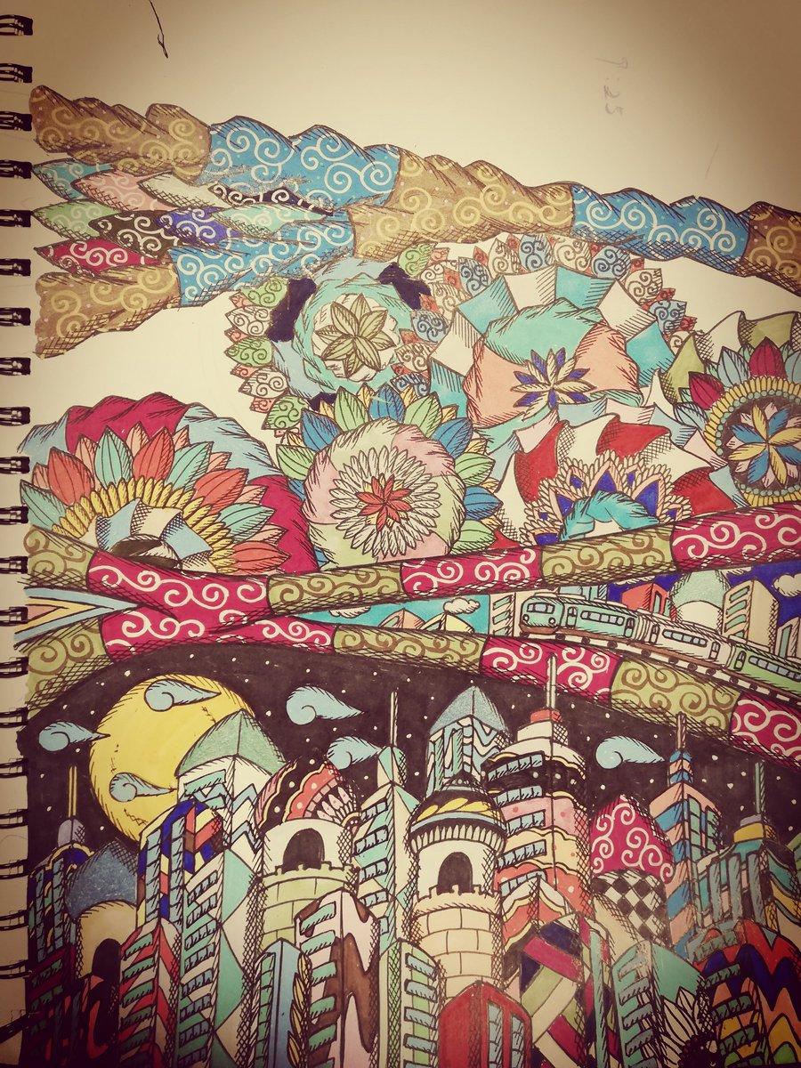 ペースが遅い。 #colouredpencils #ペン #アート #art #penart #drawing #絵 #パターンアート #artwork #artist #絵描き#artlife #作品 #色 #ビル #建物 #カラフル #ペンアート #pen #colours #flowers #アートワーク #芸術 #pendrawing #ペン画 #artistic #空想 #drawings #パターン #buildingspic.twitter.com/5rq0OdbXKv