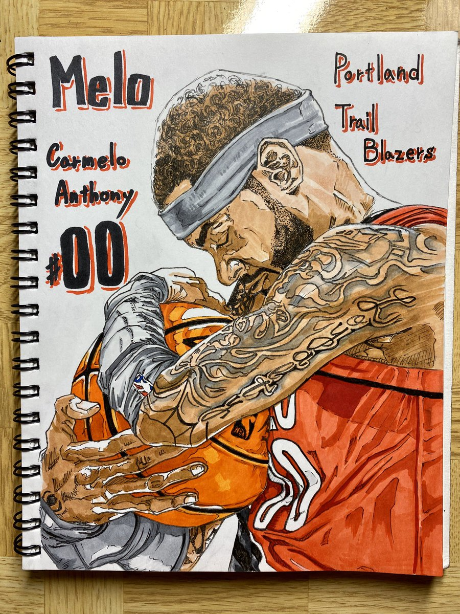 Camelo  Anthony  Portland Trail Blazers【No.00】  Melo is back!   https://youtu.be/0TXw3kBWUSw  @carmeloanthony  @trailblazers  @nba   #NBAart #cameloanthony  #Portland #trailblazers  #drawing #pendrawing  #copicmarkers  #ilovenba #nba好きと繋がりたいpic.twitter.com/PCtBABQLTB