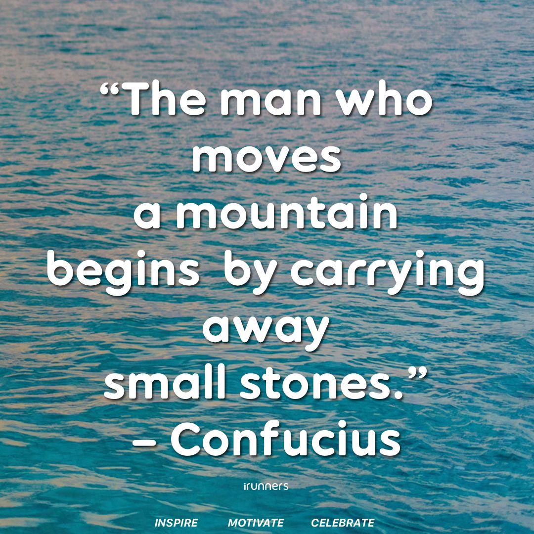 The man who moves a mountain begins by carrying away small stones.  -Confucius- Inspire.  Motivate.  Celebrate. . . . #marathon #runner #marathontraining #instarunners #runitfast #runchat #runnersofinstagram #runplanet #runnersrepost #runfornoreason #runaddictpic.twitter.com/lxx3JseJxQ
