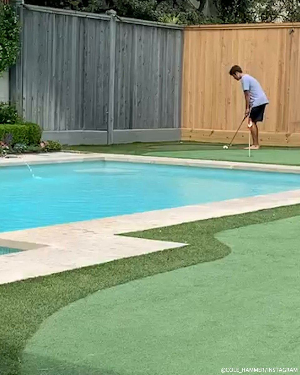 This future PGA Tour pro has perfected the art of skipping shots off a swimming pool