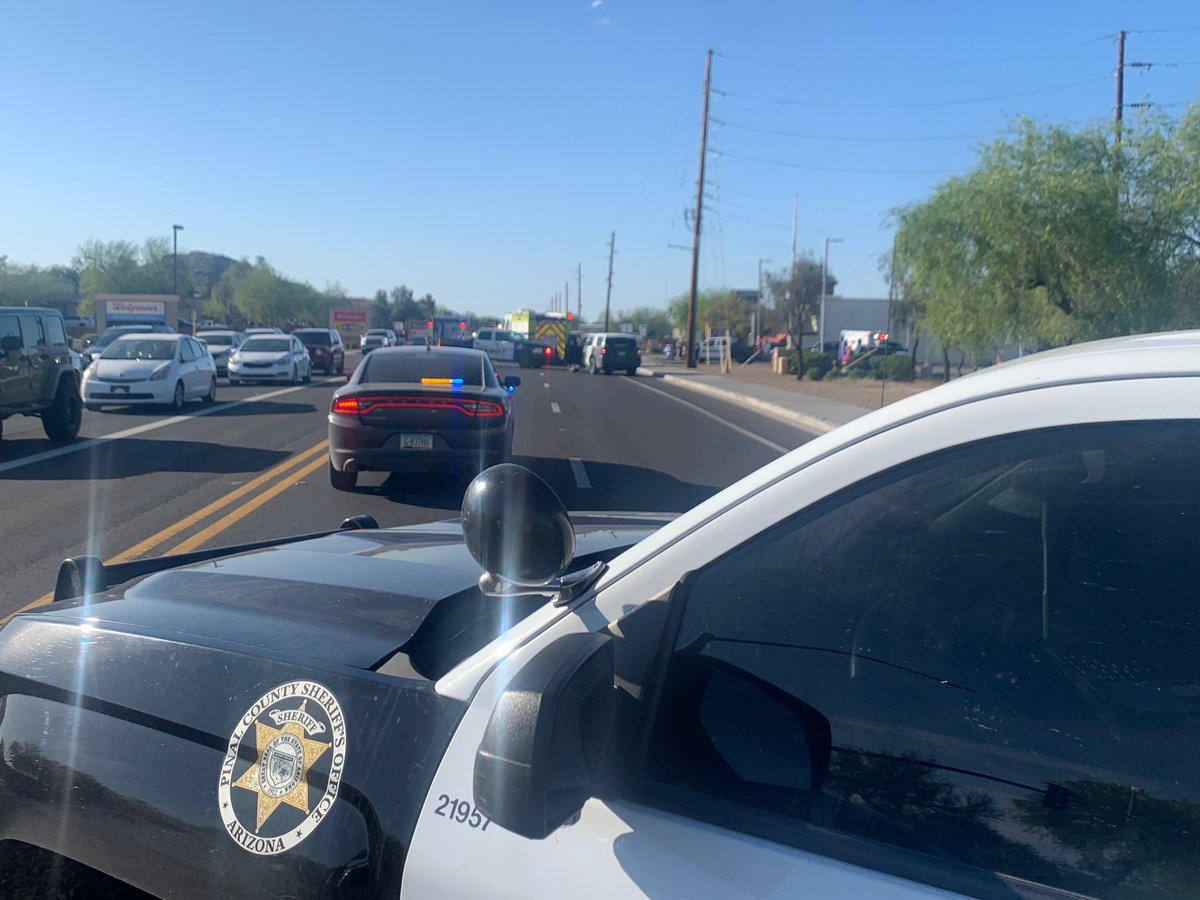 TRAFFIC ALERT: Hunt Hwy is closed at Bella Vista due to a collision.
