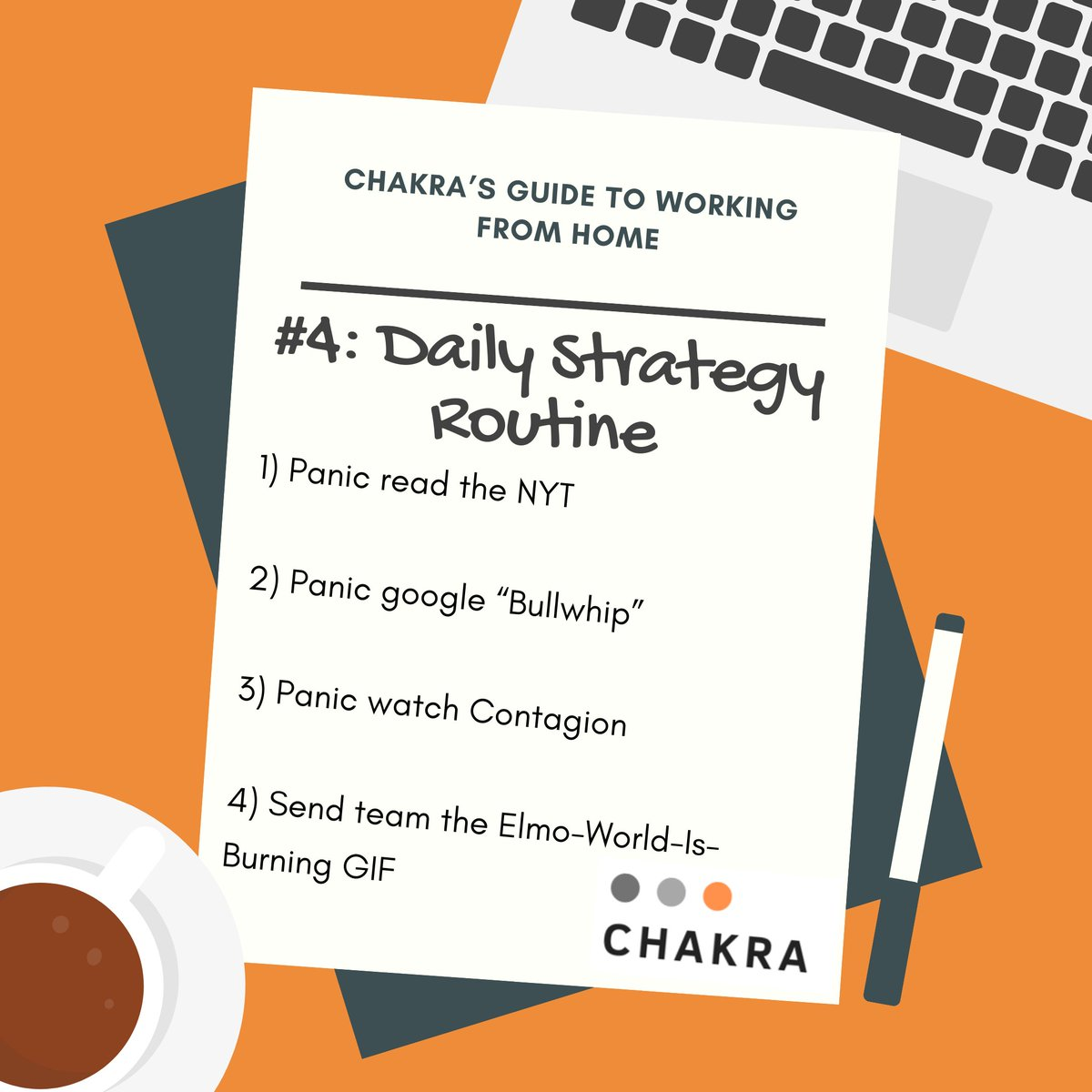 Struggling with the new reality of working from home with the whole family? Chakra is here to help.  Follow us here and see the full guide: https://www.linkedin.com/company/19161180 …  #supplychain #digitaltransformation #wfh #leadershipandmanagement #circularpic.twitter.com/BFWhCh6y7v