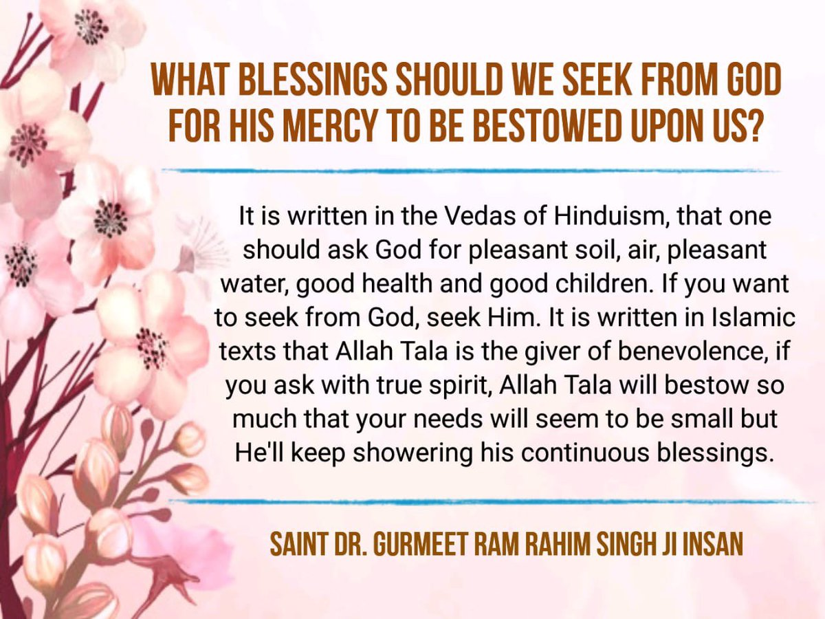 #LifeLessons  Upon seeing someone sick or someone who is suffering from anguish and pain, trying to eradicate their sorrow and problem is the real meaning of humanity. SAINT DR, GURMEET RAM RAHIM SINGH JI INSAN pic.twitter.com/SZTXncwQka