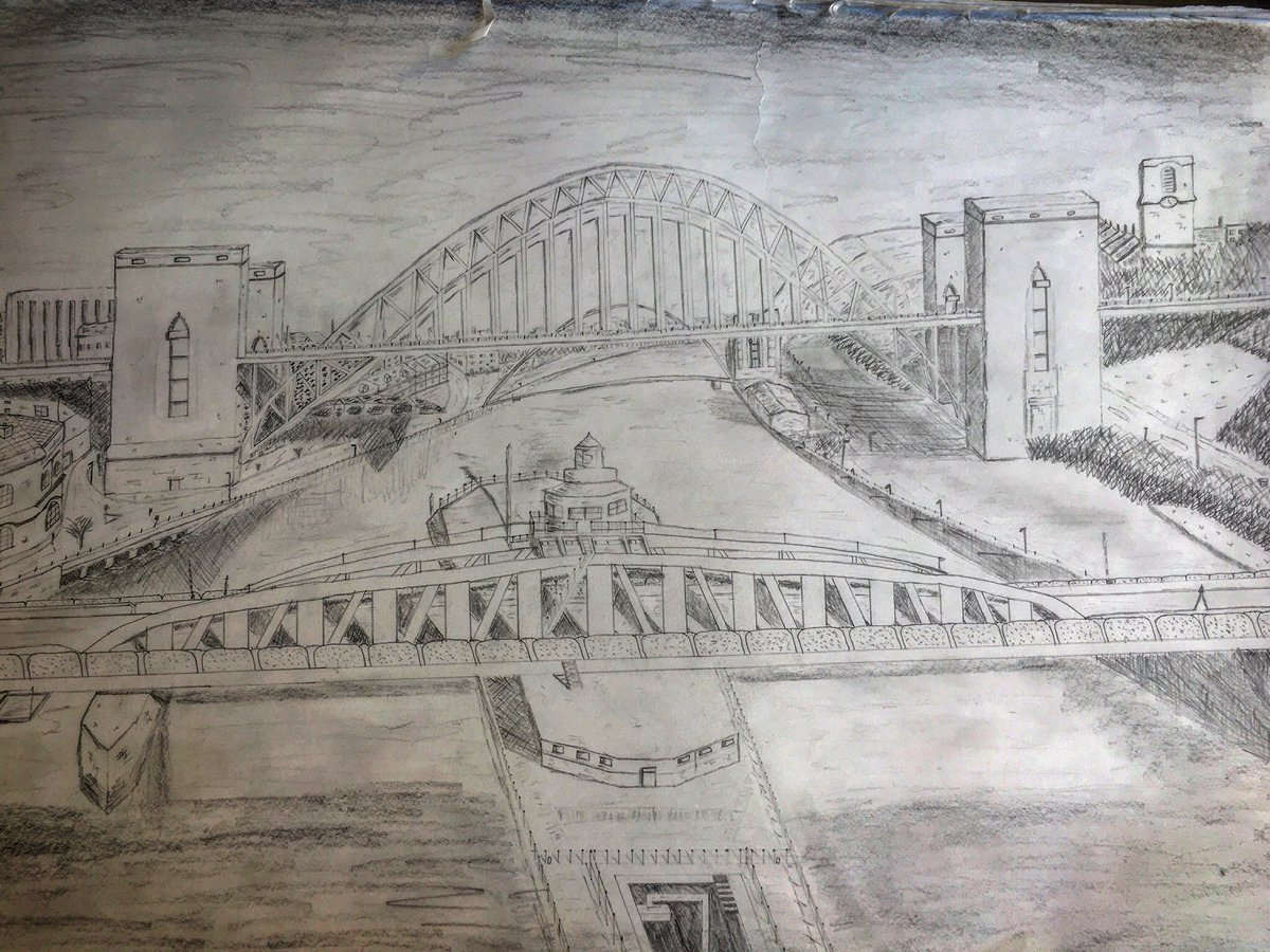 Went for a pencilled drawing this time. A tribute to my home town, Newcastle Upon Tyne #newcastle #newcastleupontyne #tyneside #rivertyne #tynebridge #art #ArtistOnTwitter #ArtistOnTwitter #kunst #kunstler #drawing #pencildrawing #artwork #meinstadt #bridges #toon #drawpic.twitter.com/BLgjMI7GAw