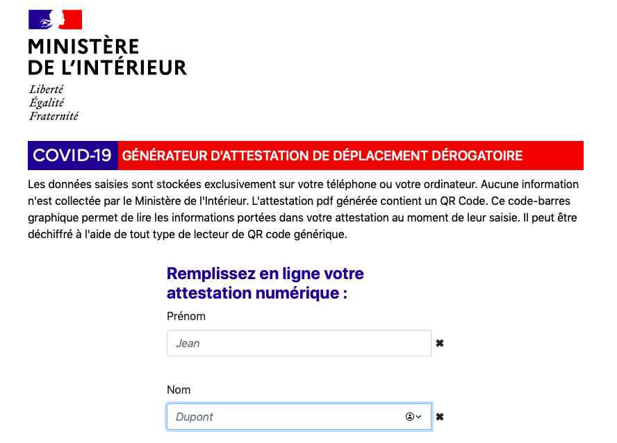 Bati Journal Com On Twitter Nouvelle Attestation De Deplacement Derogatoire Electronique Https T Co Oyo86lfhsh