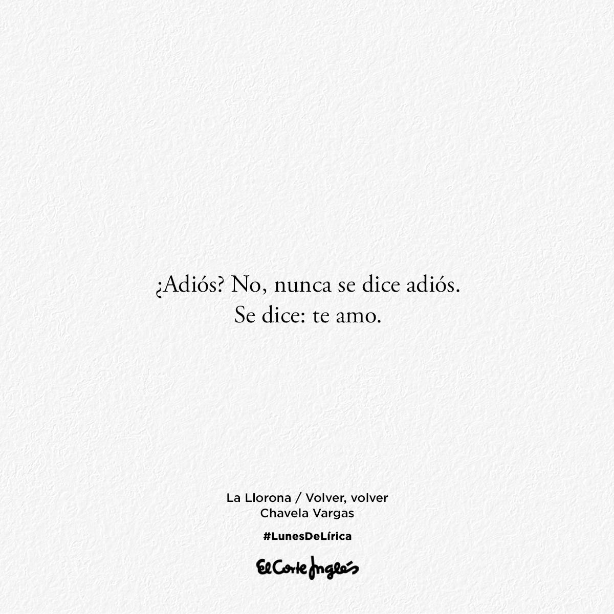 "Hoy parafraseamos a la gran Chavela Vargas: ""Se dice: Te amo"". #LunesDeLírica 📖 http://bit.ly/2X6MeAM"